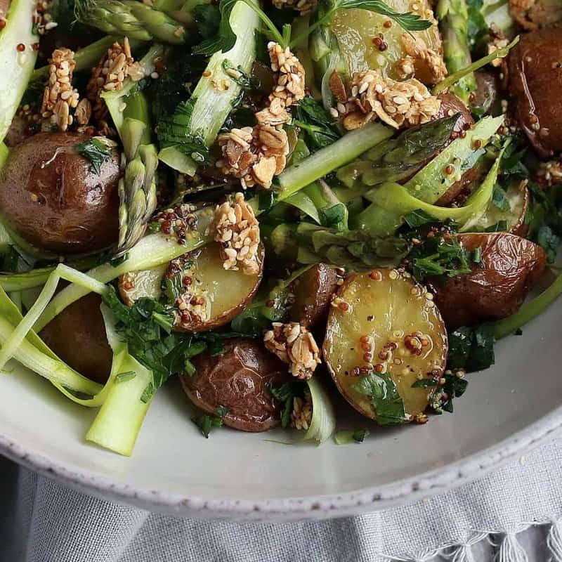 Asparagus, Potato Salad Bowl with Ancient Grain Crumbles