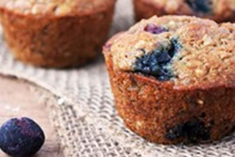 Blueberry Steel Cut Oat Muffins