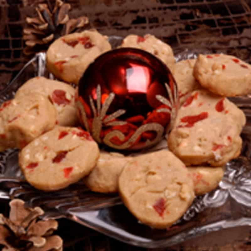 Cherry Almond Shortbread