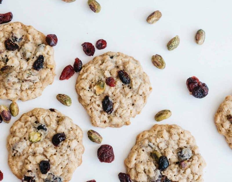 Cranberry Pistachio Cookies with Healthy Grains