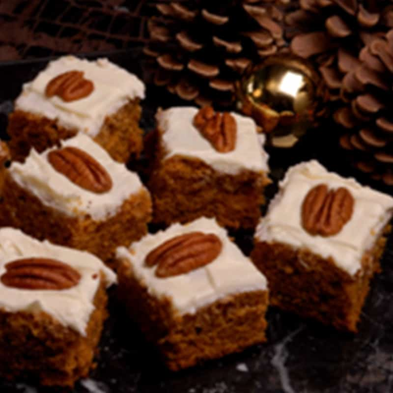 Pumpkin Cake Squares