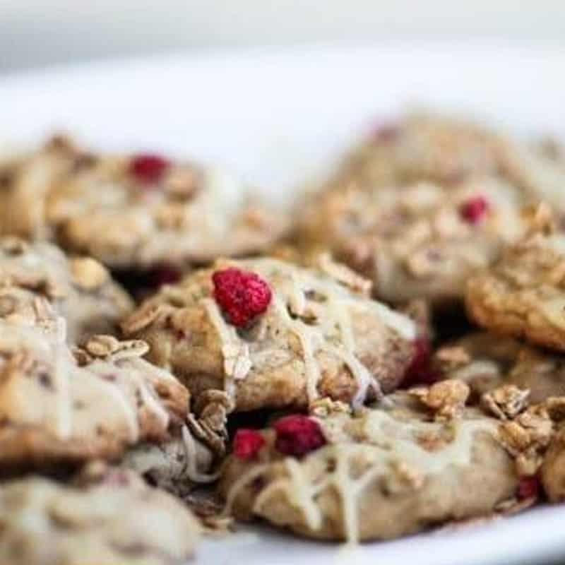 Raspberry Granola Cookies