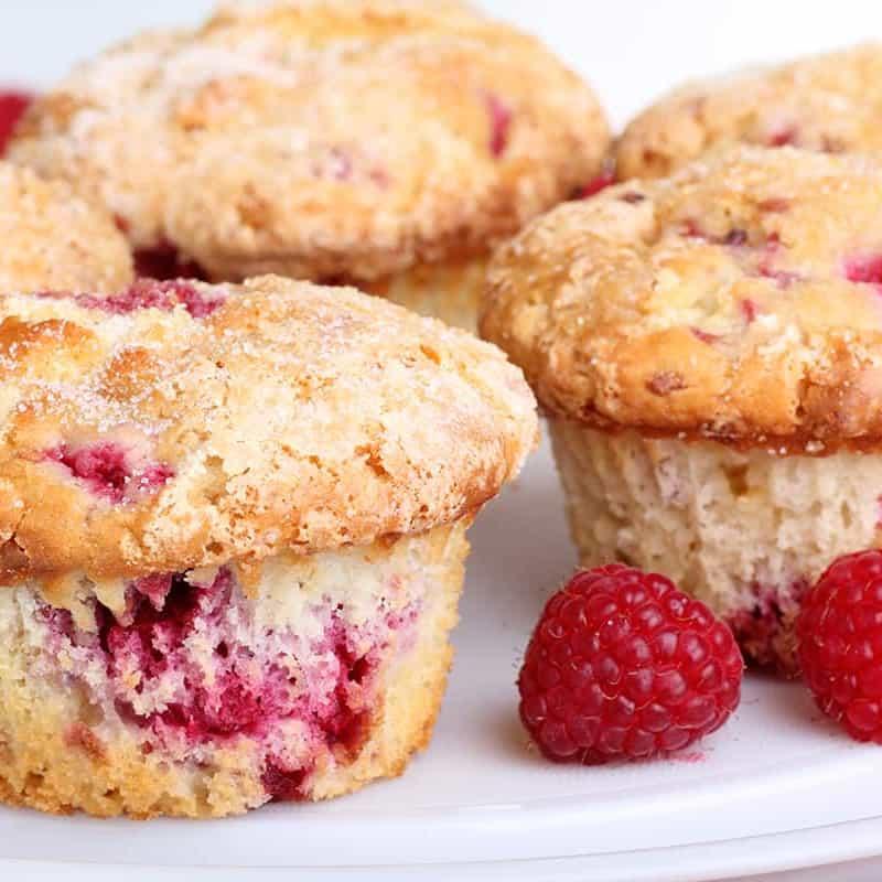 Raspberry Pecan Cream Cheese Muffins