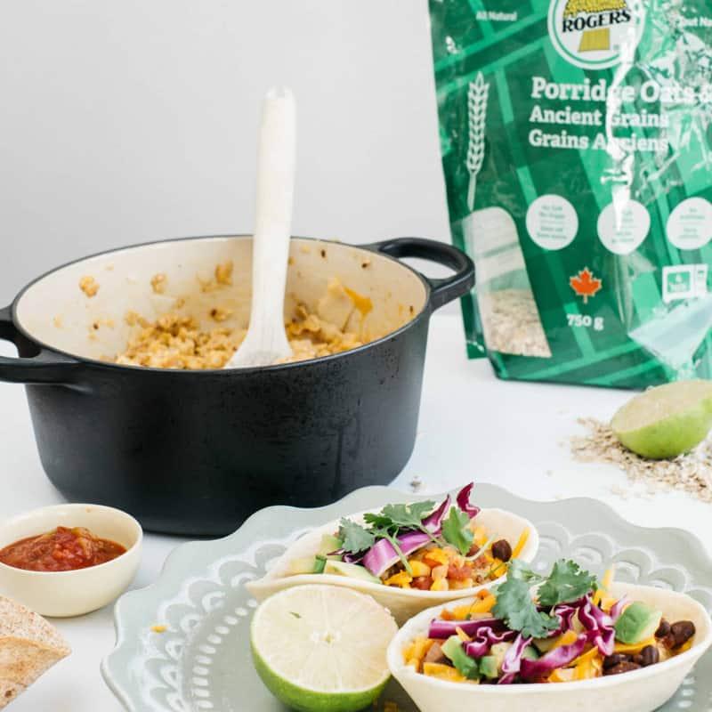 Taco Bowl with Savoury Porridge Oats & Ancient Grains